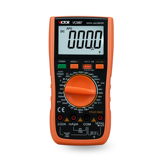 VC980+万用表(4 1/2位 40-20kHz频响)